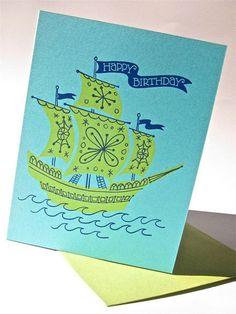 Birthday Ship Card (http://www.etsy.com/listing/89788536/birthday-ship-full-of-good-wishes)