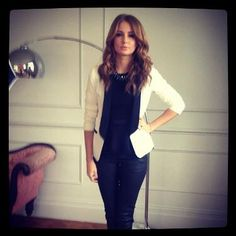 Millie Mackintosh works the monochrome trend and injects a hint of sparkle with her Monsoon Penny Necklace