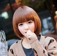 Bob and Fringe hairstyle awesome The Best 2014 Korean Hairstyles for Women l - New Site Bob Hairstyles For Round Face, Fringe Hairstyles, Short Bob Hairstyles, Black Women Hairstyles, Korean Hairstyles, 2014 Hairstyles, Haircuts, Asian Short Hair, Asian Hair