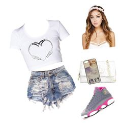 Untitled #10 by trapqueen-t on Polyvore featuring polyvore, fashion, style, Betsey Johnson, Wet Seal and NIKE