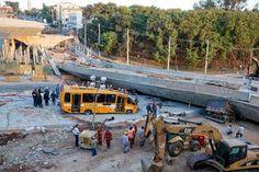 BH: viaduto cai sobre veículos e deixa ao menos dois mortos