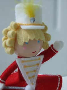 Felt Drum Majorette Doll
