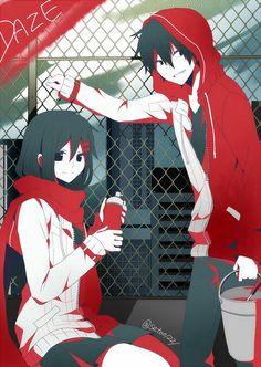 ayano and Shintaro (kagerou project )