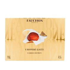 Fauchon Candied Chestnut Vacuum Packed Box 120g (4.23 oz) featured in vente-privee.com