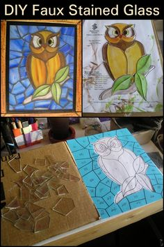 DIY Faux Stained Glass  Make your home look divine with this cool DIY.