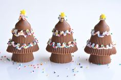 These Homemade Reese's Cup Christmas Trees Are An Adorable, Festive Treat