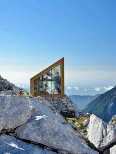 """""""Chasing angels or fleeing demons, go to the mountains"""" - JEFFREY RASLEY - (Skuta Mountain Cabin in Slovenia by Ofis Architects):"""