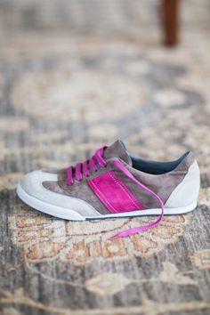 Emerson Fry Sneakers. Gray & Magenta. Perfect for Spring.