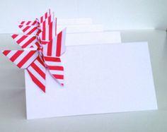 Cartes de Place papillon rayé, Origami mariage Escort Cards - jeux de la faveur de 20 - rayures imprimer n'importe quelle couleur