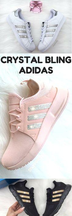 half off d51d9 411e2 Custom blinged Adidas with swarovski crystals  bling  shoes  adidas   sneakers  pumpedupkicks
