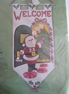 Bucilla Jeweled Door Chime Christmas Kit Sealed by RetroExchange