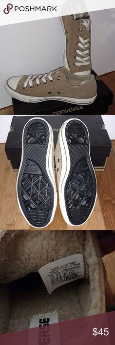 Converse CTAS Suede+Shea Sand Dune/Black New W/tags Converse CTAS Suede+Shea Sand Dune/Black size 7.5 women's. Converse Shoes Sneakers