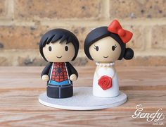 Spiderman and bride with Hello Kitty bow wedding cake topper by Genefy Playground https://www.facebook.com/genefyplayground