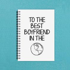 Gift for boyfriend To the Best Boyfriend by FlamingoRoadJournals
