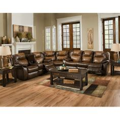 Monte Carlo Reclining Sectional And Couch On Pinterest