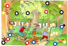 TOUCH this image: Naar het bos. by Paula Prevoo Forest Theme, Preschool Education, Autumn Crafts, Autumn Activities, School Life, Retelling, Autumn Theme, Boy Or Girl, Cartoon