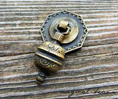 Art deco furniture pulls antique kbc brass teardrop pull brass antique solid brass pendant pull authentic restoration hardware by magicalbeanshome aloadofball Choice Image