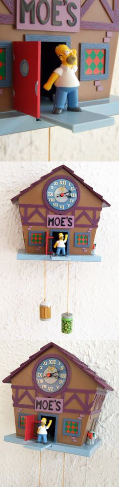 Reloj de cuco de los Simpsons! - The Simpsons' cuckoo clock  #Regalos #Frikis #Geek #Gifts #Simpsons #Reloj #Clock #Cuco #Cuckoo