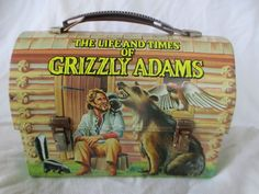 Vintage The Life and Times of GRIZZLY ADAMS 1977 Metal Lunchbox Dome Top Aladdin #vintage #lunchboxes #lunchbox Grizzly Adams, Lunch Box Thermos, Packing Lunch, Vintage Lunch Boxes, Aladdin, Times, Metal, Top, Metals