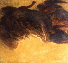 Gaetano Previati, La creazione della luce, 1913 c.