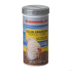 3.36oz Marineland Color Enhancing Tropical Flakes are optimized for the varying sized fish in a community aquarium, (4-6mm)firm round flakes differ slightly in diameter and thickness. Unique low-heat process preserves more of the natural nutrients.