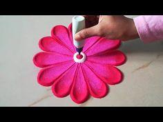 आसान रंगोली बनाना सीखे - बहुत सरल मोर पंख रंगोली आने वाले जन्माष्टमी के लिए, Innovative Rangoli - YouTube Easy Rangoli Designs Videos, Rangoli Designs Latest, Rangoli Designs Flower, Rangoli Border Designs, Rangoli Ideas, Rangoli Designs Diwali, Diwali Rangoli, Rangoli Designs With Dots, Rangoli Designs Images