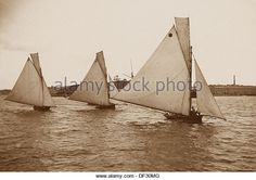 Sydney Harbour Yachts New South Wales Australia Victorian period - Stock Image