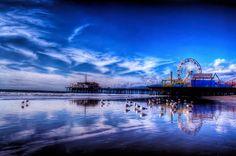 Vista geral do Pier de Santa Monica