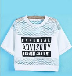 Parental Advisory Crop top – SEKclothing
