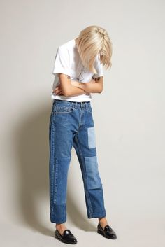 Patchwork denim is a must-have this season!