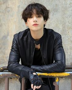 Okay but, this Jungkook with a leather jacket?