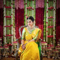 Fulfill a Wedding Tradition with Estate Bridal Jewelry Telugu Brides, Telugu Wedding, Saree Wedding, Wedding Suits, Bridal Sarees, South Indian Bride Jewellery, South Indian Weddings, Engagement Hairstyles, Hindu Bride