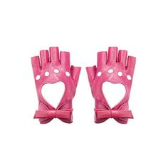 pink fingerless heart and bow gloves, Alannah Hill Pink Leather, Real Leather, Nora Valkyrie, Looks Kawaii, Estilo Cool, Pink Gloves, Mode Kpop, Character Aesthetic, The Villain