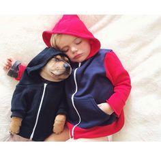 La historia de nuestros dos protagonistas, un pequeño perrito llamado Theo y un bebé humano de nombre Beau, es enternecedora.  Dale clic al enlace ;)