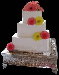 Image result for square wedding cakes with ribbon