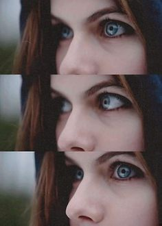 Alexandra Daddario's eyes. They can look into your soul. This is why she's my fan cast for my OC