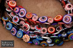 flat beads in many colours