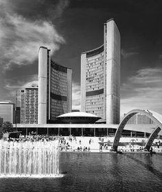 Toronto City Hall and Nathan Phillips Square | 1965 | Toronto, Canada |  Viljo Revell and John. B. Parkin Associates