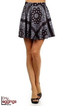 9a0793197972 Bandana Summer Skater Skirt - $32.00 at OnlyLeggings.com - #onlyleggings