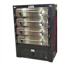 """PEERLESS is known for their ovens.  The 2348 is a multideck oven with no peers.  The grey exterior sports 4 stainless steel oven doors behind which has enough room to cook 16 16"""" pizza at the same time.  But it's for more than just pizza.  This oven is perfect for bakeries as well."""