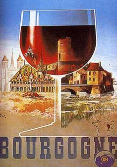 Bourgogne, (Lithograph) by N. Gerale (1938)