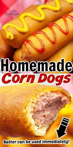 Corn Dog Batter, All Family, Family Night, Good Food, Yummy Food, Night Food, Corn Dogs, Recipe Today, Food Pictures