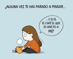 Para los adictos al café, aquí tenéis estas divertidas ilustraciones. Para los que preferimos el té, podemos reírnos de los cafeinómanos. :P