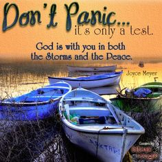 There are times when we will have to go through storms that are so strong and lengthy, that we begin to feel we just cannot make it through. When God allows you to sit in a boat in the middle of a raging ocean, don't panic or be afraid of how you're going to survive or make it through such a difficult and trying storm. God understands and He knows you more than you even know yourself. He knows what you're capable of achieving and exactly how much you will be able to bear. ♥