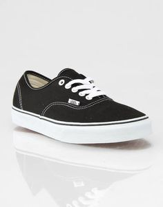 online store 457fe 3447e Vans Authentic Plimsolls - Black White - RouteOne.co.uk