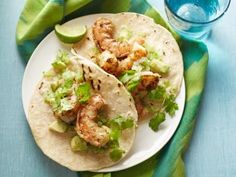 Chipotle Shrimp Taco with Avocado Salsa Verde Recipe | Food Network Kitchen | Food Network