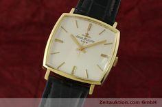 Jaeger LeCoultre 18K Gold Club Handaufzug Herrenuhr Vintage   150563