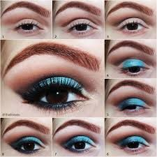 Aprenda Como Fazer- Olho com Sombra Azul, Marrom e Pérola