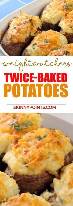 Twice-Baked Potatoes With Only 2 Weight Watchers Smart Points Weight Watchers Sweet Potato Recipe, Weight Watcher Vegetable Recipes, Weight Watchers Recipes With Smartpoints, Weight Watchers Meals, Weight Watchers Recipes With Points Vegetarian, Weight Watchers Appetizers, Weigh Watchers, Weight Watchers Breakfast, Weight Watchers Points