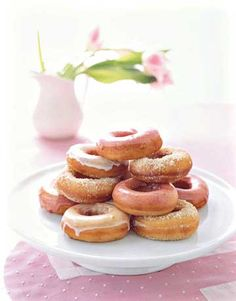 Heavenly Pink Doughnuts